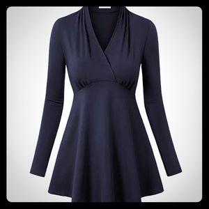 Tops - 🌼 Black Tunic Shirt | Large 🌼